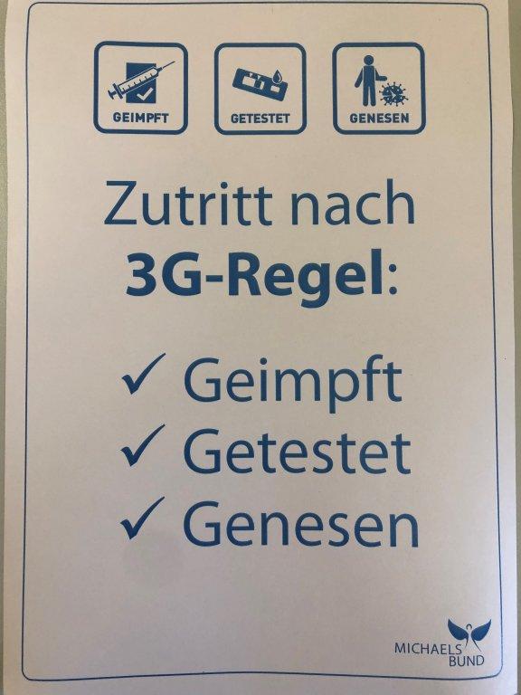 Zutritt unter Einhaltung 3G